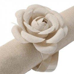 Roses en lin (x2)