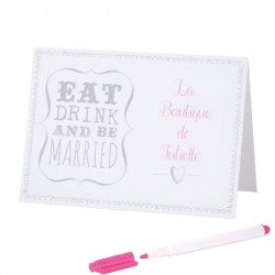 "Marque-place ""eat, drink and be married"" (x10)"