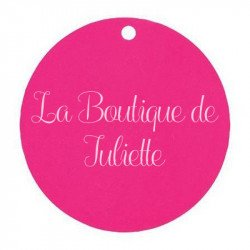 Marque-place ronds (x10) - Fuchsia