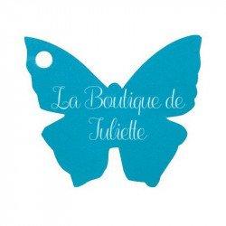 Marque-places papillon (x10) - Turquoise