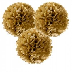 Pompons (x3) - Or