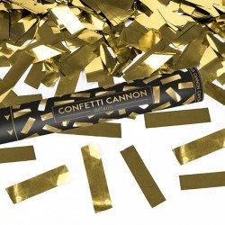 Canon à confettis métalliques - Doré