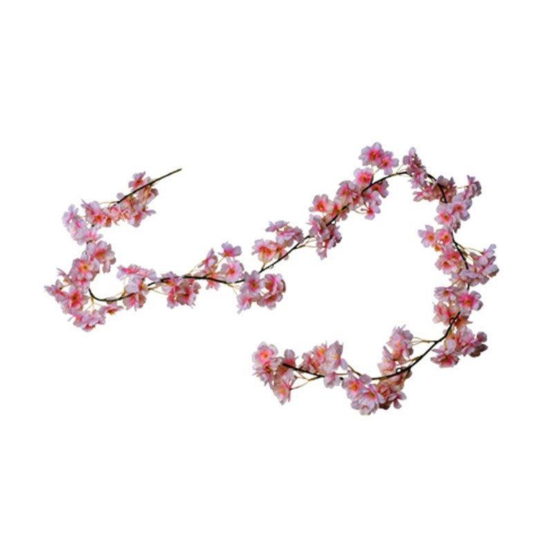 Guirlande de fleurs de cerisier rose