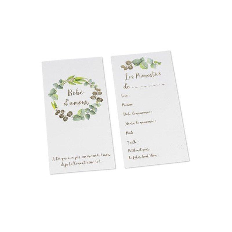 Cartes de pronostics Baby Shower (x10)