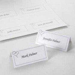 Marque-Places Coeur imprimables (x42)