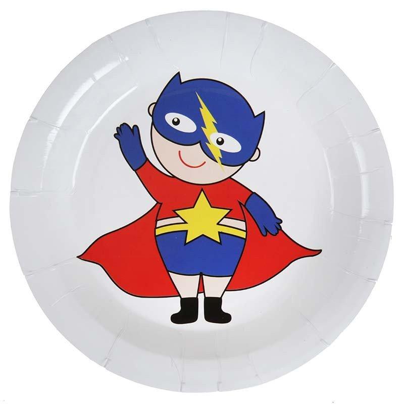Assiette Super Héros boy (x10)