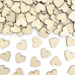 Confettis Coeurs Bois (x 50)