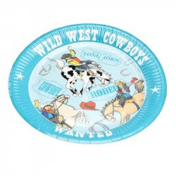 Assiettes Cow Boy (x8)