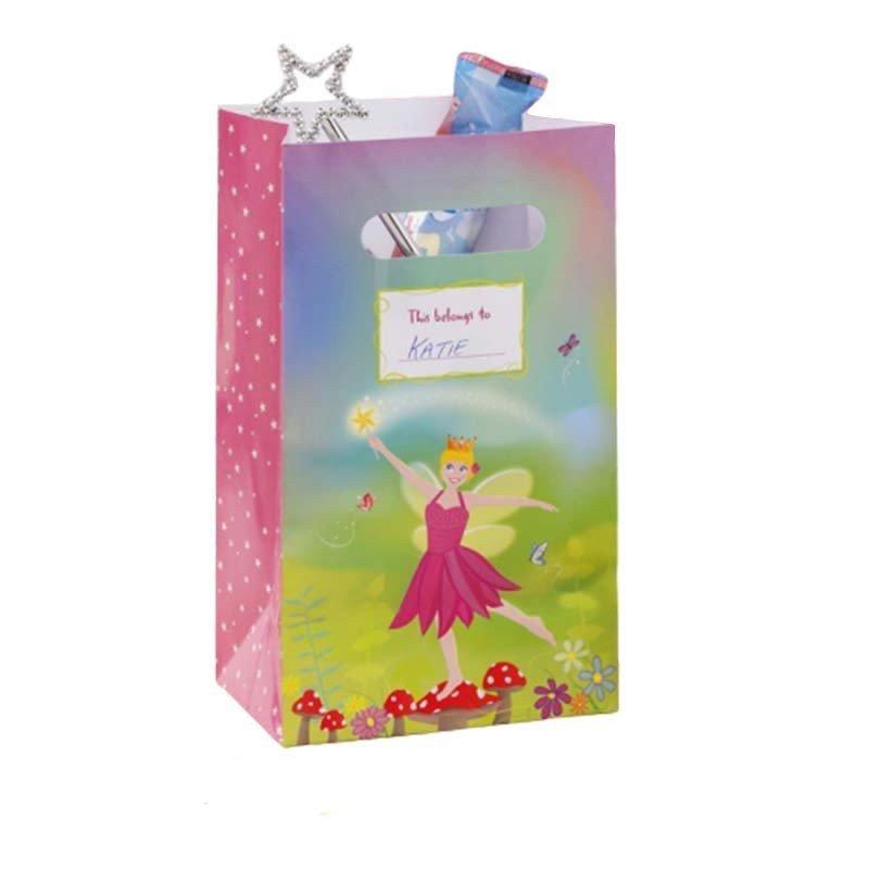 Sacs à bonbons en carton fée rose (x5)