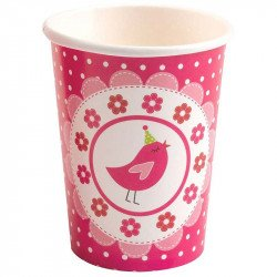 Gobelet little bird rose bonbon (x8)
