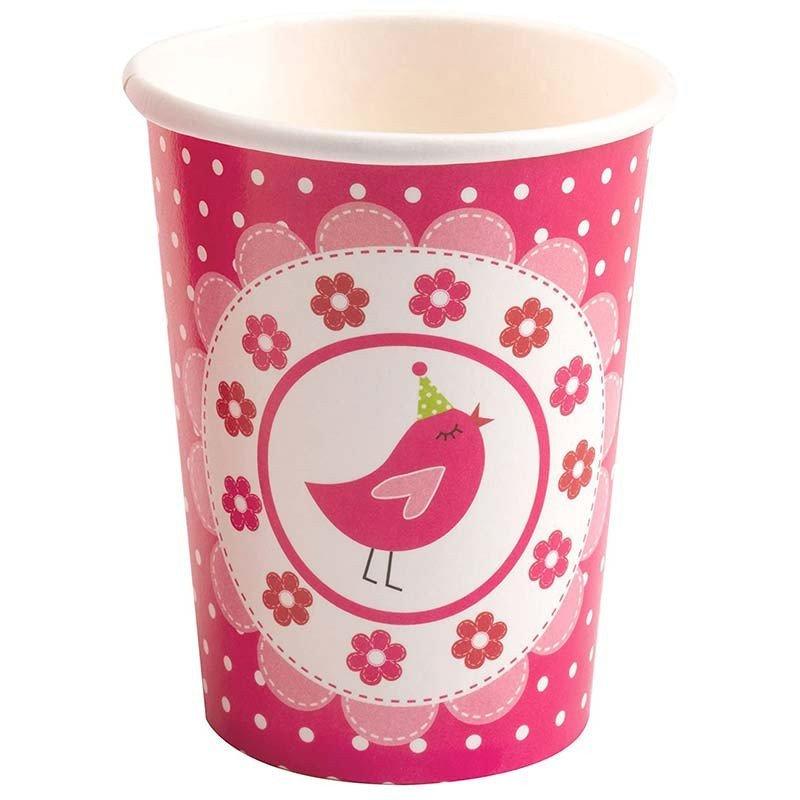 Gobelet little bird rose bonbon (x8)
