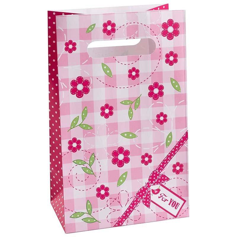 Sac cadeaux rose bonbon (x5)