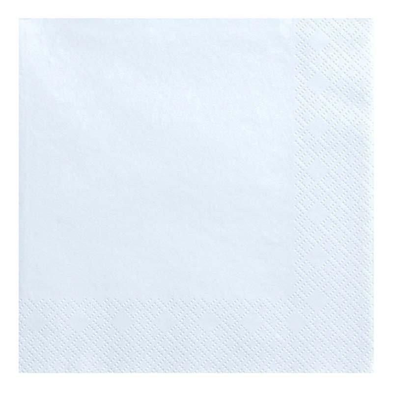Serviettes Pastel bleu (x20)