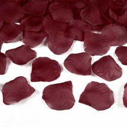 Pétales rose tissu (x100) - Bordeaux