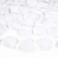 Pétales rose tissu (x100) - Blanc
