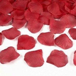 Pétales rose tissu (x100) - Rouge