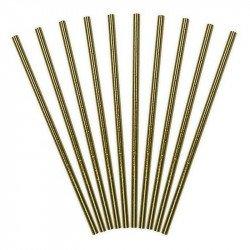 Pailles métallisées (x10) - Doré