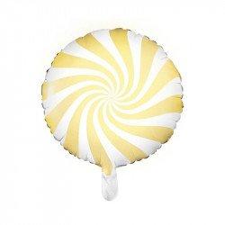 "Ballon mylar  ""Bonbon"" 45 cm - Jaune"