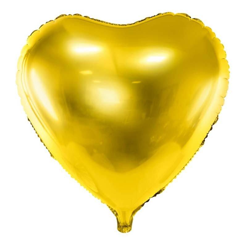 Grand ballon mylar coeur or