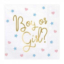 """Serviettes """"Boy or Girl ?"""" (x20)"""