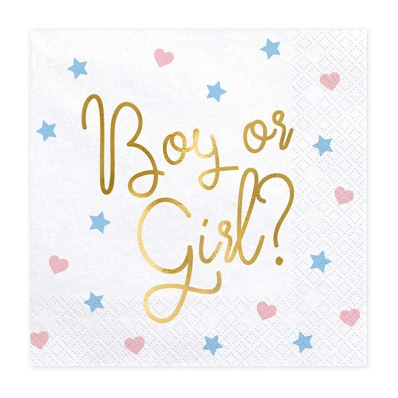 """20 Serviettes """"Boy or Girl"""""""