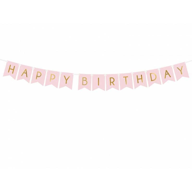 "Guirlande ""Happy Birthday"" rose"