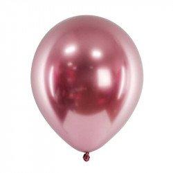 Ballons chromés - 30 cm (x3) - Rose
