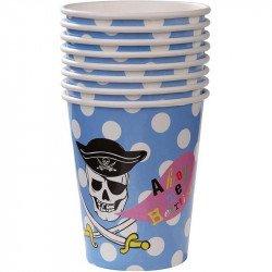 Gobelets Pirate à Pois (x8)