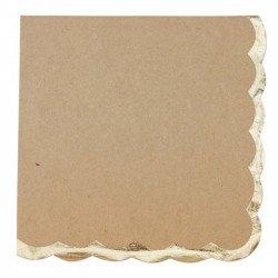 Serviettes liseré doré (X16) - Kraft