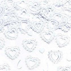 Coeurs de confettis - Blanc