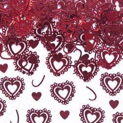 Coeurs de confettis - Rouge