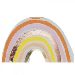 Serviettes Arc-en-ciel Terracotta (x16)