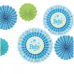Rosaces bleues baby (x6)