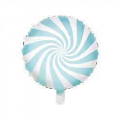 """Ballon mylar  """"Bonbon"""" 45 cm - Bleu"""