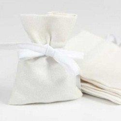 Pochons en coton blanc (x6)