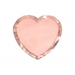 Assiettes Coeur rose gold (x6)