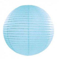 Lampion en papier uni - 20 cm - Bleu ciel