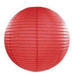 Lampion en papier uni - 20 cm - Rouge