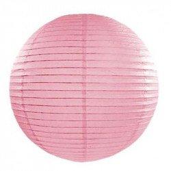 Lampion en papier uni - 20 cm - Rose pastel