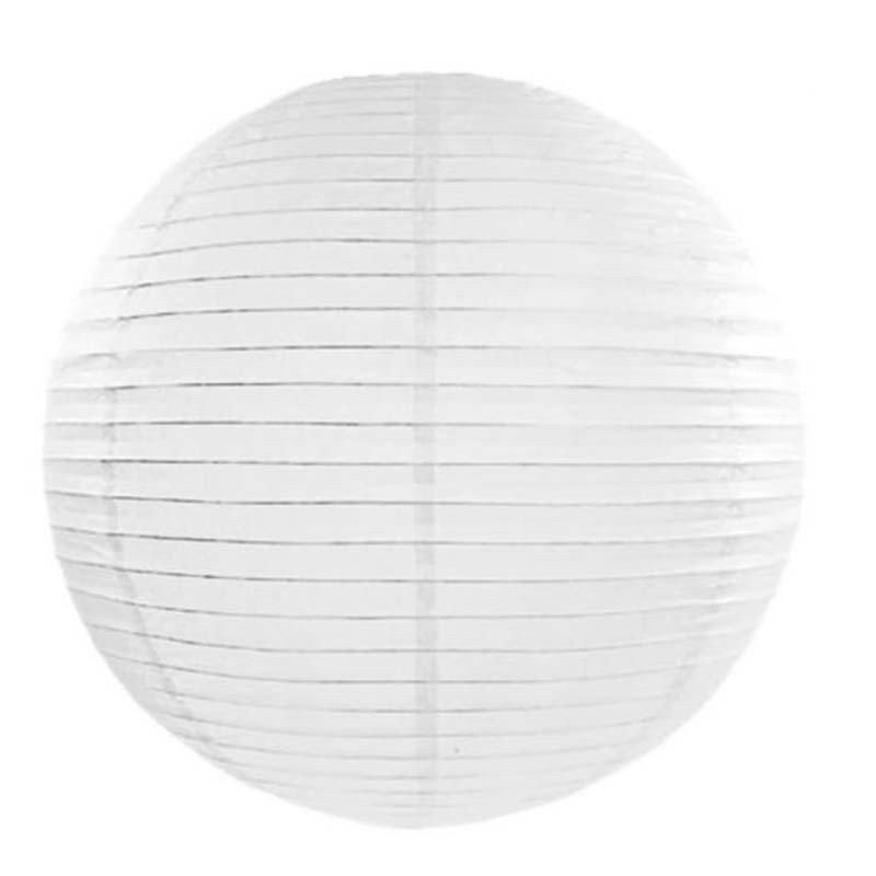 Lampion en papier unis blanc - 20 cm