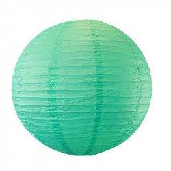 Lampion en papier uni - 30 cm - Vert emeraude