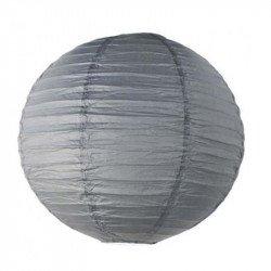 Lampion en papier uni - 30 cm - Gris