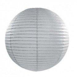 Lampion en papier uni - 30 cm - Gris clair