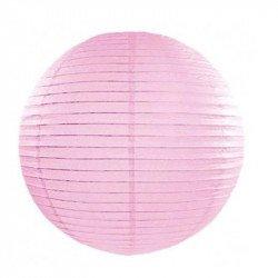 Lampion en papier uni - 30 cm - Rose pastel