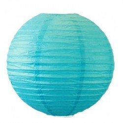 Lampion en papier uni - 30 cm - Turquoise