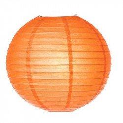 Lampion en papier uni - 35 cm - Orange