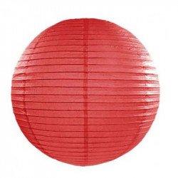 Lampion en papier uni - 35 cm - Rouge