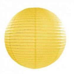 Lampion en papier uni - 40 cm - Jaune