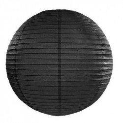 Lampion en papier uni - 40 cm - Noir