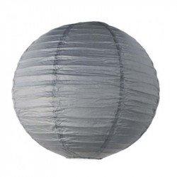 Lampion en papier uni - 40 cm - Gris